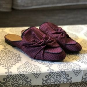 NWT A New Day | Natalee Red Blue Slip On Mules 8.5